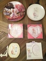 Lot of 6 Precious Moments Collectibles.  2 plates, 3 plaques, 1 frame