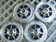 VINTAGE 1969 69 FORD MERCURY MARQUIS COLONY PARK HUBCAPS WHEEL COVERS CENTER CAP
