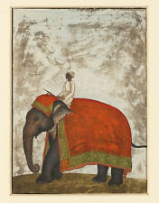 PAINTING KHAN MUGHAL EMPEROR'S CEREMONIAL ELEPHANT ART PRINT POSTER HP2973