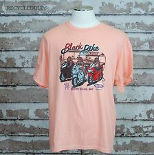 2014 Myrtle Beach Black Bike Week Motorcyle Rally T Shirt sz XL Peach