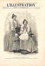 Famille de Paul Kruger Président de la République sud-africaine GRAVURE 1900