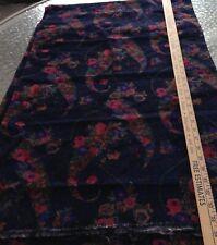 "Vintage Fabric, Cotton, Corduroy, Paisley, Floral, Measures 41"" Wide, 1 1/2 Yard"