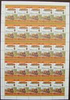 1921 LBSCR Class L STEPHENSON Baltic Train 50-Stamp Sheet (Leaders of the World)