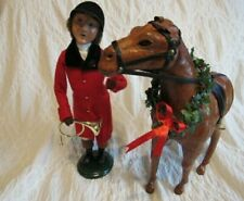 Byers Choice 2003 Fox Hunt Caroler And Horse 2 Piece Set