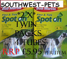 2 x TWIN PACK BOB MARTIN, Dog SPOT ON,LARGE DOGS TICK FLEA DROPS, Flea Treatment