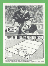 1976 Coles Daily Mirror 2SM Top Try Card Ian Schubert #2 Signed Super Rare NMint