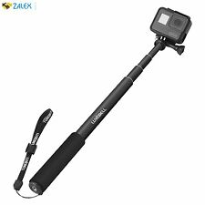 Selfie Stick Adjustable Telescoping Monopod Pole for Gopro Hero 5 Sessions Black