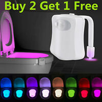 Toilet Night Light 8 Color LED Motion Activated Sensor Bowl Lamp Light Detection