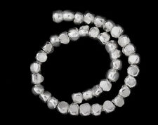 Karen Hill Tribe Silver 40 Faceted Beads 3x2 mm.