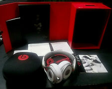 Beats PRO Headphones by Dr.Dre Beats  White / Red-Original Box ,Cables, Case