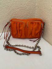 MZWallace Penny Bedford Orange Nylon Crossbody Handbag