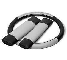 Faux Leather Steering Wheel Covers for Car Truck Van SUV White Black Custom Grip