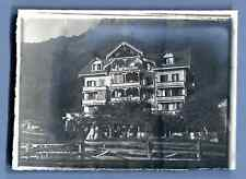 Suisse, Wengen, Hôtel Silberhorn  Vintage silver print. Schweiz, Switzerland