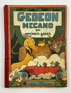 LIVRE GEDEON MECANO PAR BENJAMIN RABIER EDITIONS GARNIER FRERES 1927 F91