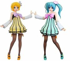 Vocaloid Miku & Rin Figure Colorful drop Cheerful Candy Project DIVA set of 2