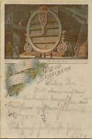 1270: AK Postkarte Gruß aus Heidelberg Das große Fass gelaufen 1898