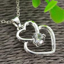 Women's Gemstone Necklace Pendant 925 Silver Filled Set Jewelry Rings Earrings