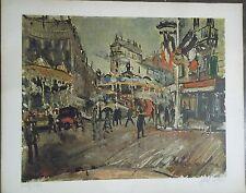 Gen Paul (1895-1975) Photo-Lithographie Fête foraine dans Paris - P1596