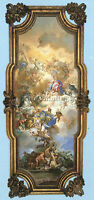 SOLIMENA FRANCESCO TRINITY MADONNA ST DOMINIC ARTIST PAINTING OIL CANVAS REPRO