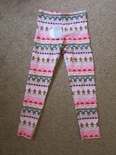 7282b95fb795f BNWT Matalan girls 9 years Christmas Santa Snowman Rudolph Reindeer leggings