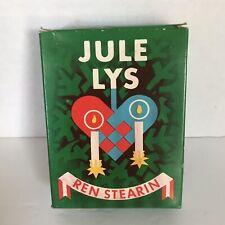 Vintage Box 20 Unused Jule Lys Ren Stearin Hjertelys Christmas Candles Dessin251