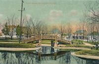 NEWTON MA - Newton Common Rustic Bridge