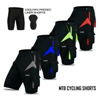 MTB Shorts Downhill Off Road Racing Baggy Style/Padded Liner Bicycle Shorts