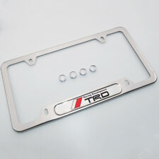 For TRD Brand New License Frame Plate Cover Stainless Steel Chrome