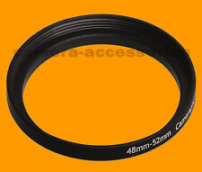 48mm to 52mm 48-52 Stepping Step Up Filter Ring Adapter 48-52mm 48mm-52mm