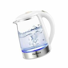 Topwit Electric Kettle Glass Hot Water Kettle, 2 Liter Cordless Electric Tea .