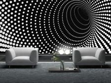 New ListingGiant Wall mural photo wallpaper Illusion Twisted dots black tunnel motif decor