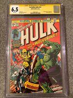 INCREDIBLE HULK #181 CGC SS STAN LEE HTF Amazing 6.5 Rare 1st Wolverine