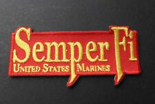 Semper Fi Fidelis Embroidered Patch Usmc Us Marine Corps Marines 4 X 2 Inches