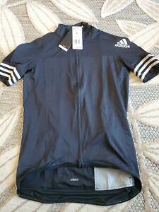 Adidas Adistar Maillot Black Cycling Form Fitting Jersey CV7089 Men's Sz Large