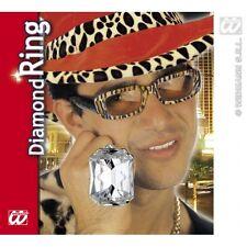 Large Diamond Pimp Ring Gangster Ali G Male Fancy Dress Costume Jewellery