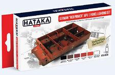 Hataka AS35 German Red Primer AFV Panel Lighting Paint Set (6 Colors)
