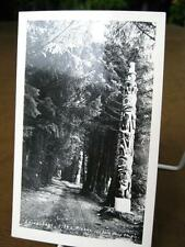 Lovers Lane Sitka Alaska Real Photo Postcard TOTEM POLES RPPC Photo Shop Studio