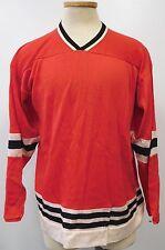 VINTAGE LATE 1960-70'S RED BLACK & WHITE CHICAGO BLACKHAWKS STYLE HOCKEY JERSEY