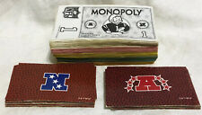 Game Parts Pieces NFL Monopoly Parker Brothers 1998 Money AFC NFC Cards