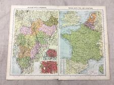 1930 Vintage Map of Belgium Luxemburg Low Countries Old Europe