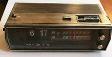 Vintage GE Flip Clock Model 7-4333 AM FM Radio