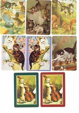 PLAYFUL CATS  (8)  swap/playing cards