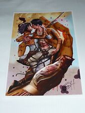 2015 WONDERCON ATTACK ON TITAN ART PRINT #3 HAND SIGNED BY GREG HORN  13x19