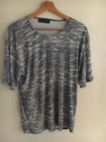 Ladies Top Size 20 Grey Natural Polyester Essential Look <T15697
