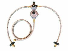 Propane Regulator Automatic Changeover Two Stage 2ft Stainless Hose
