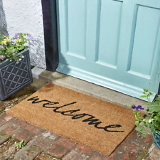 Welcome Coir Doormat Indoor Outdoor Home Door Mat 75x45cm