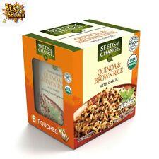 Seeds of Change Certified Organic Quinoa and Brown Rice w/ Garlic (8.5 oz., 6pk.