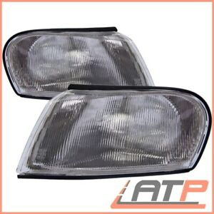 2X INDICATOR TURN SIGNAL WHITE FRONT RIGHT+LEFT OPEL VAUXHALL VECTRA MK2 B 95-99