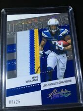 2017 Absolute Rookie Jerseys #26 Mike Williams 3 color Jumbo Patch /25