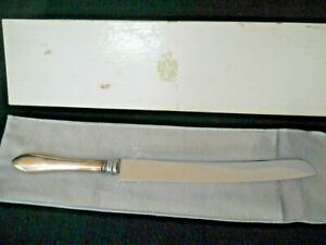 Vintage Reed & Barton Stainless Steel Wedding Cake Knife / Engraved Bill & Ruth